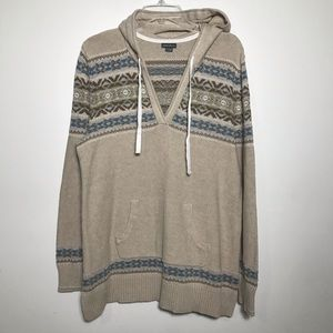 Eddie Bouer sweater with a hoodie size XL